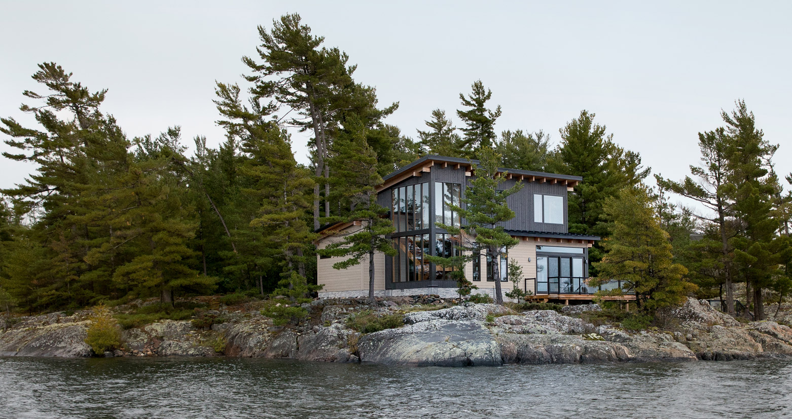 Off-grid Canadian island cottage, with high efficiency design and passive considerations