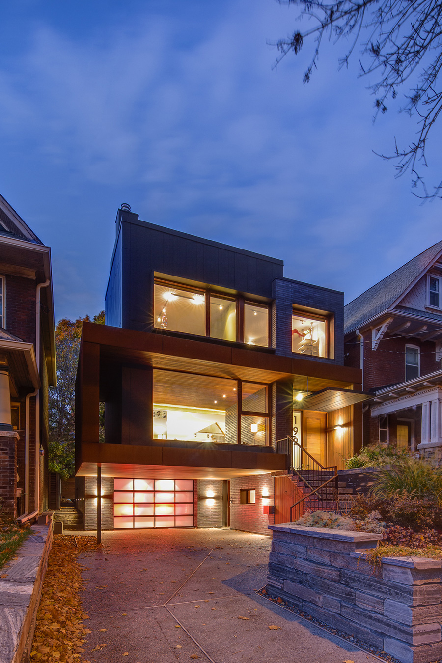Modern Toronto home with Corten Brick and Zinc siding