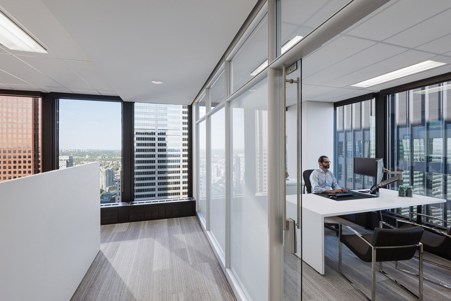Toronto corner office in historic TD towers by Mies van der Rohe