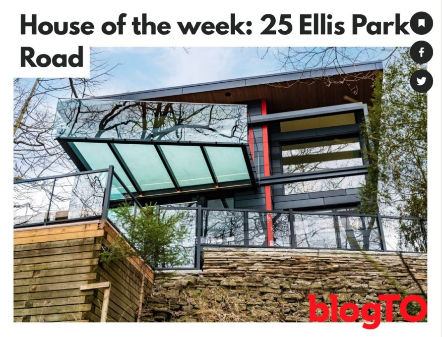 Altius Architecture house of the week on blogTO for Ellis Park residence