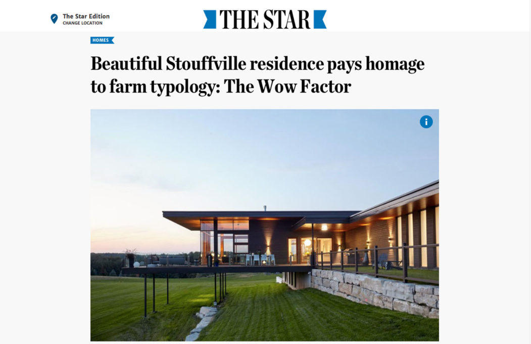 Altius Architecture featured in the Toronto Star for Stouffville house project