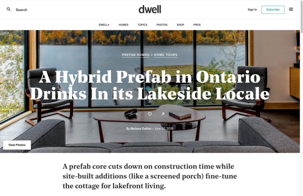 Altius Architecture Featured in Dwell Magazine for prefab cottage